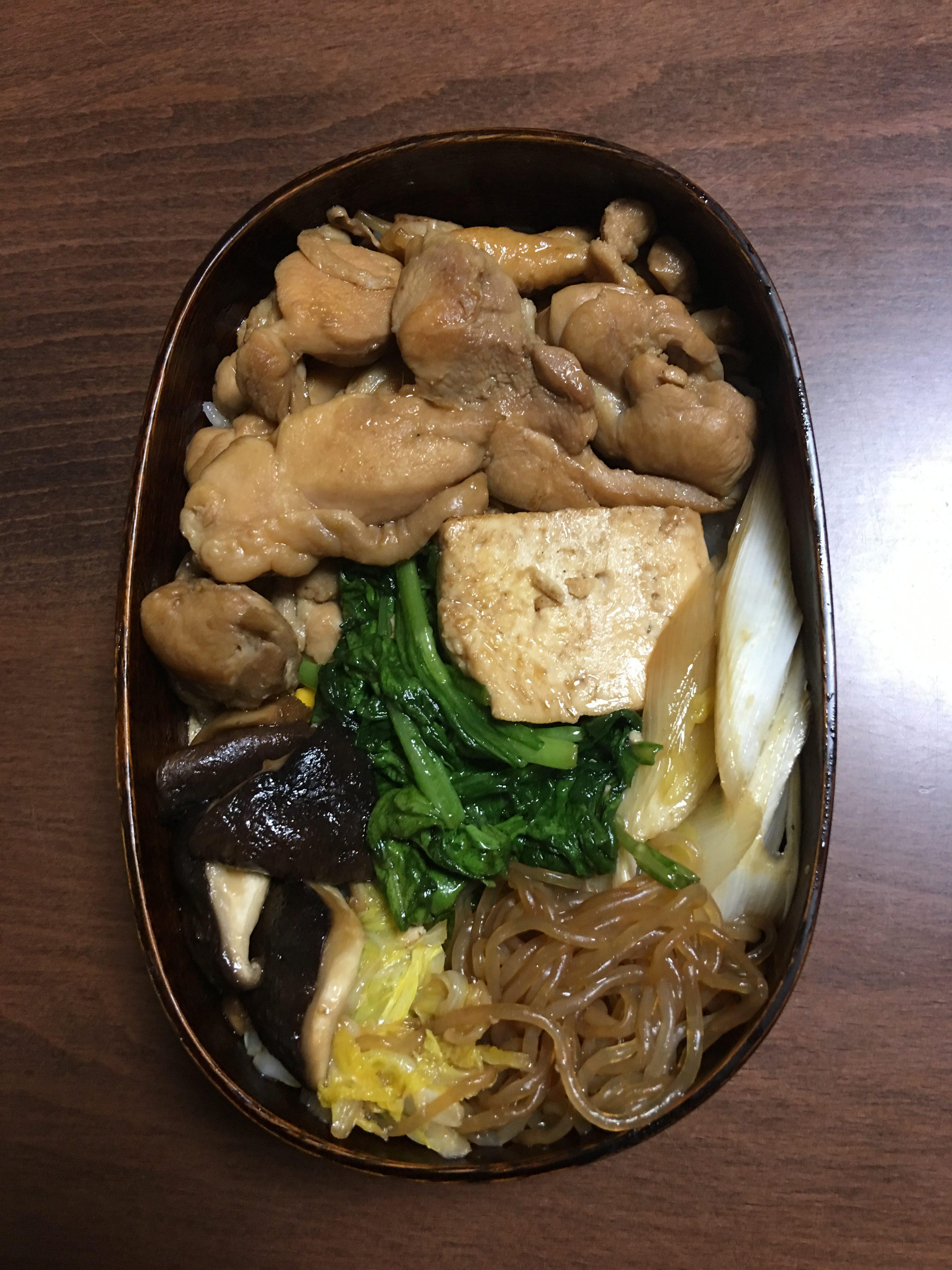 鳥すき焼き丼/サラボーン