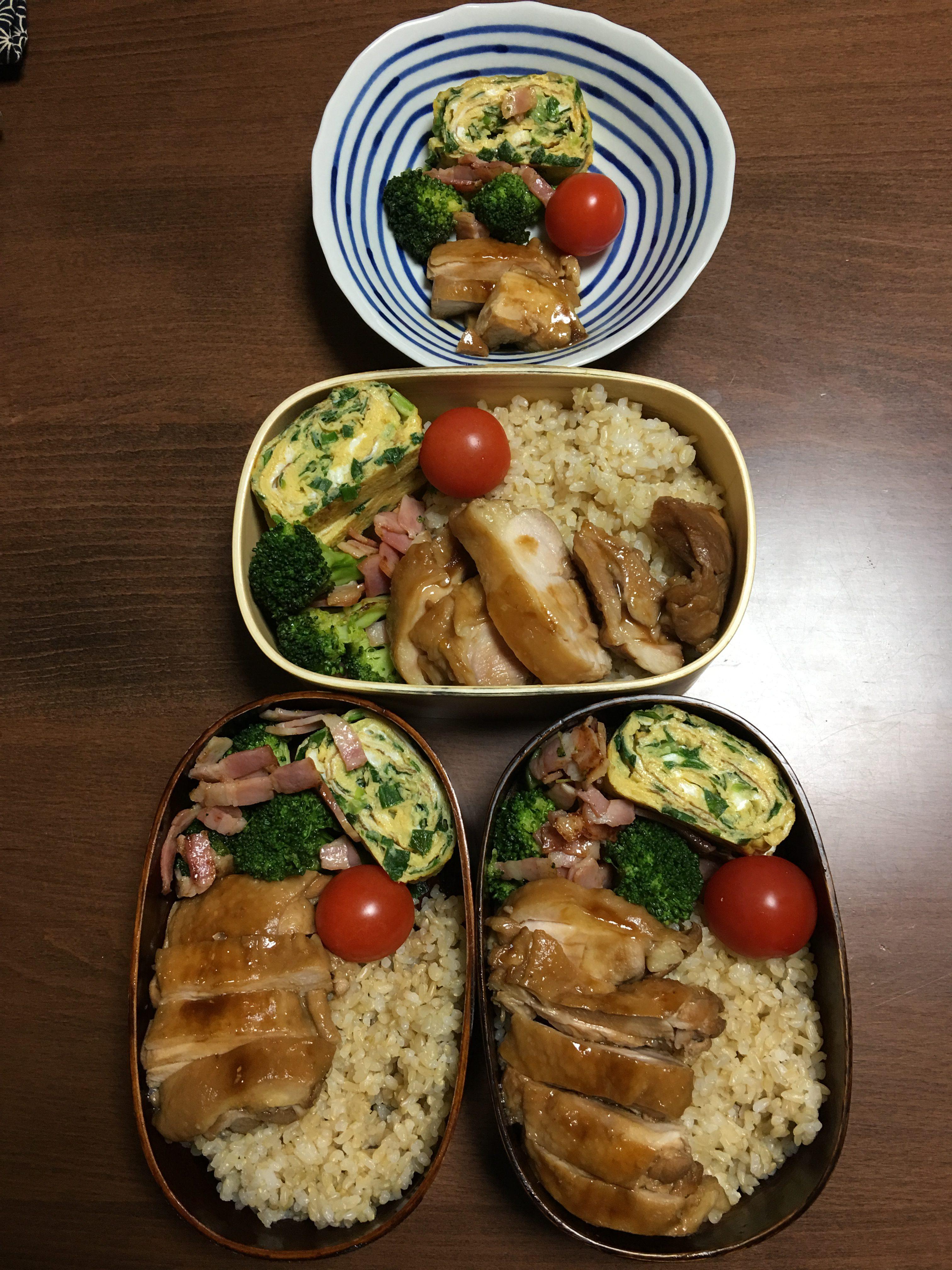 鶏の照り焼き/玄米について